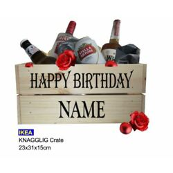 Happy Birthday Crate/Gift Box - DIY Beer Crate,  Personalised Name STICKER ONLY