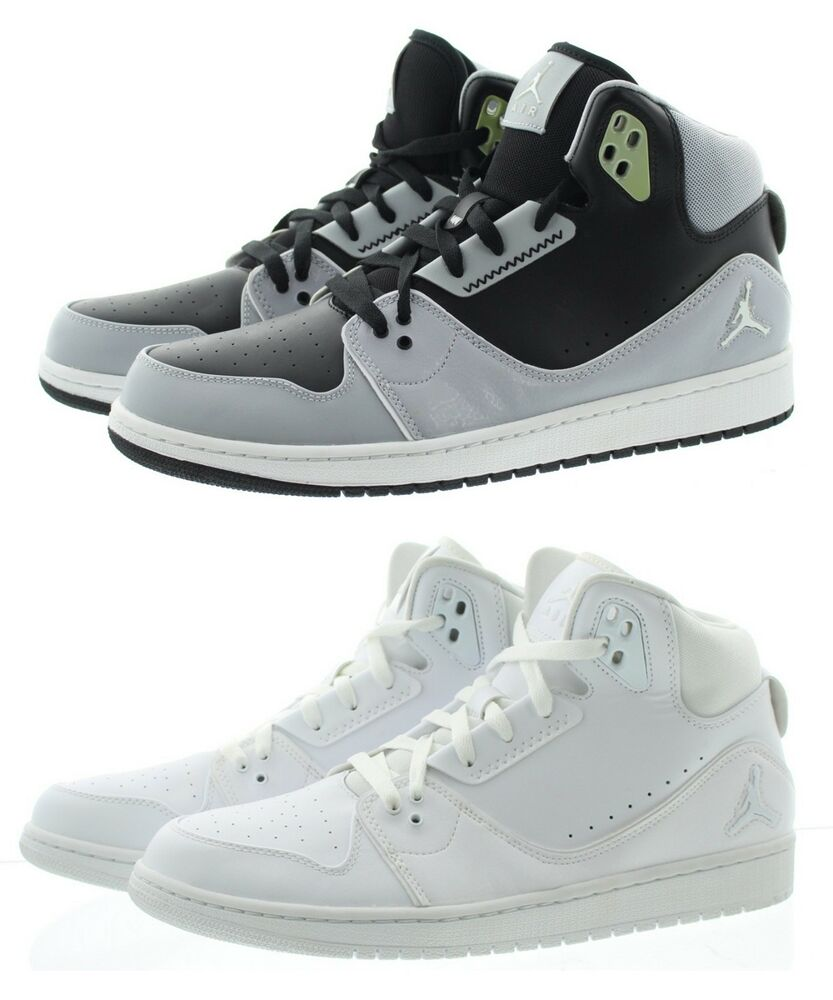 e364e099a5ea Nike 555798 Mens Air Jordan 1 Flight 2 High Top Basketball Trainer Shoes