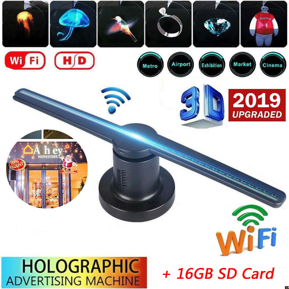 LED WIFI 3D Hologram Projector Holographic 42cm
