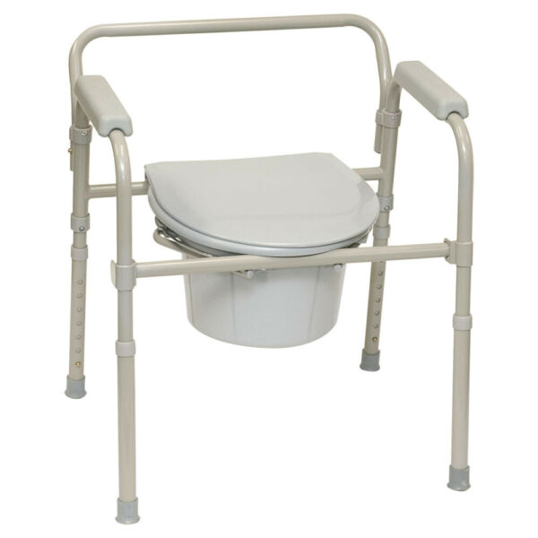 PROFESSIONAL MEDICAL 1 EA BSFC ProBasics 3-in-1 Folding Commode, 350 lb. CHOP