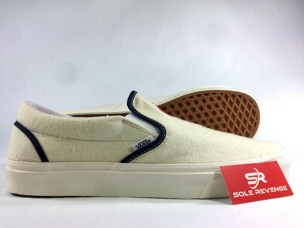 79d8ef9e26f Details about NEW VANS CLASSIC SLIP ON - A3UT7RTD MLB Chicago Cubs Unisex  True White Blue c1