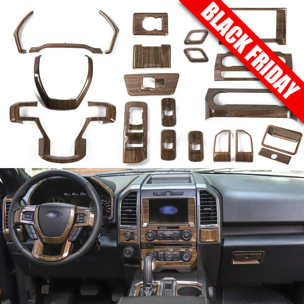 99 Ford F 150 Interior: Full Set Wood Grain Upgrade Interior Trims For Ford F150