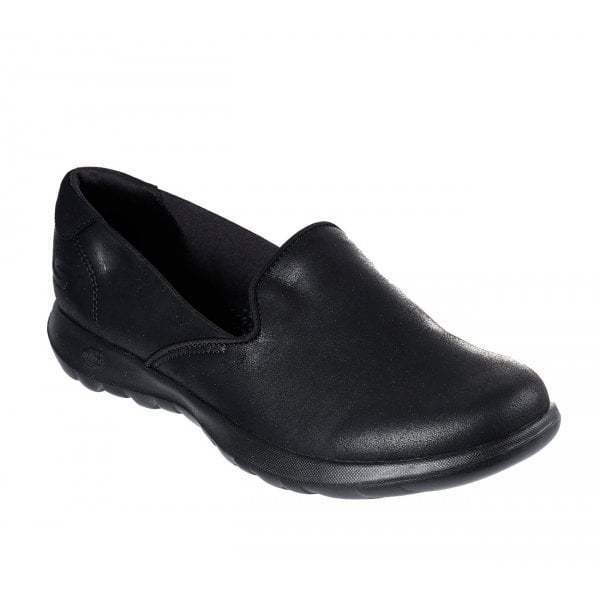 d38a9e2565c Details about Skechers GO WALK LITE QUEENLY Ladies Womens Slip on Walking  Casual Shoes Black