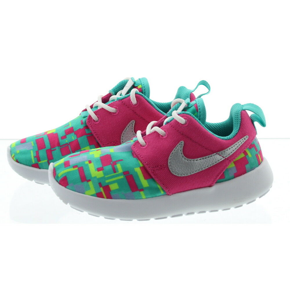 7e0901e6e7fb Details about Nike 677785 Toddler Child Rosherun Print Low Top Running  Athletic Sneakers Shoes