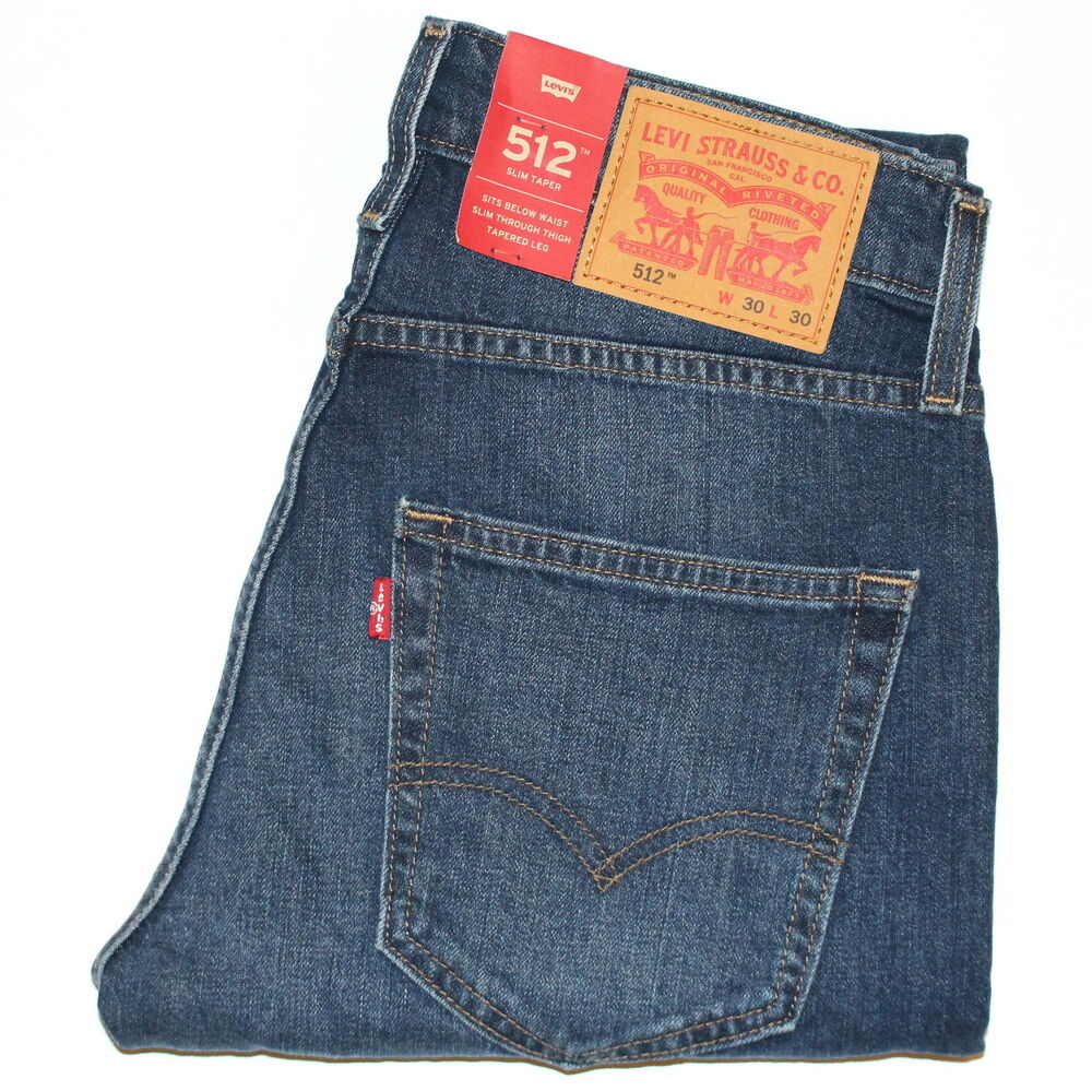 6afcdfb8 Details about Levi's 512™ Slim Taper Fit Stretch Jeans W29-36in L30-34 RRP  £95 *ClearOut Sale*