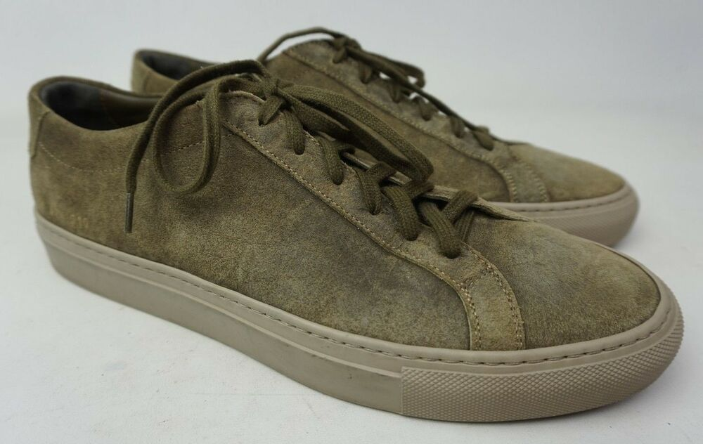 5455a3781bca Common Projects Achilles Low Waxed Suede Dark Grey Sneakers Men s Shoe Size  42