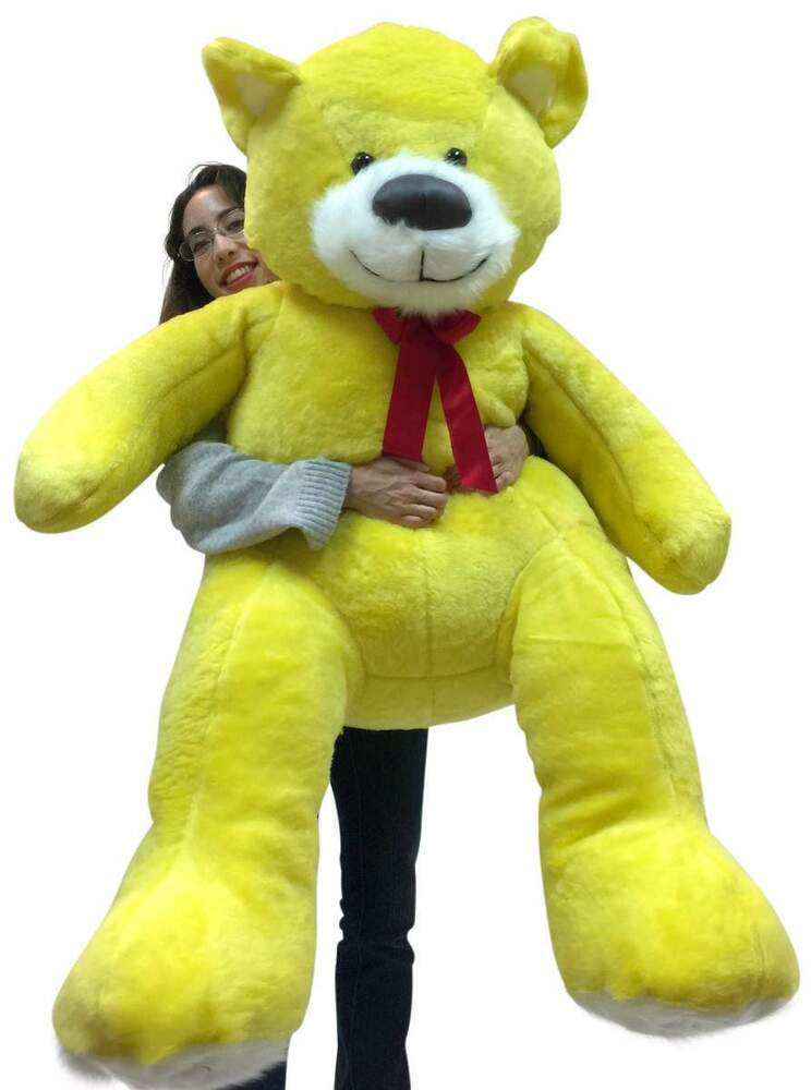 De S About 5 Foot Soft Yellow Teddy Bear Big Plush 60 Inch Huge Stuffed Animal Made In Usa