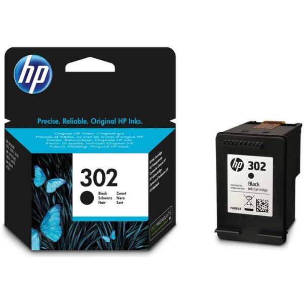 CARTUCCIA HP 302 NERA ORIGINALE PER HP 3830 3832 4650 1110 2130 3630 4520 F6U66A