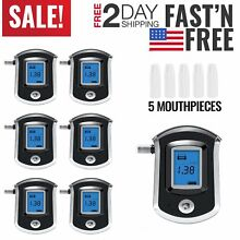 Lot1-20 Police Use Digital Alcohol Tester Professional Breathalyser Detector MA