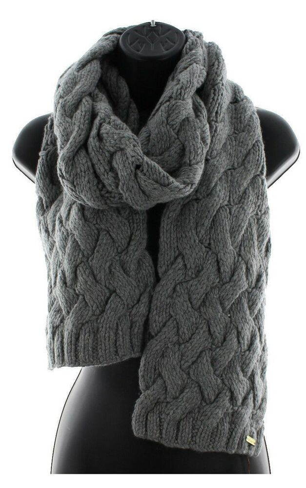 Coach 83104 Women S Braided Chunky Cable Knit Wool Winter Scarf