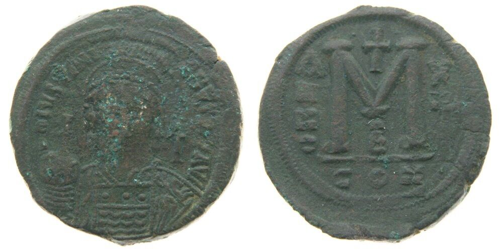 Coins & Paper Money Faithful Byzantine Empire Maurice Tiberius Follis Constantinople Ae 30 Nice Coin Coins: Ancient