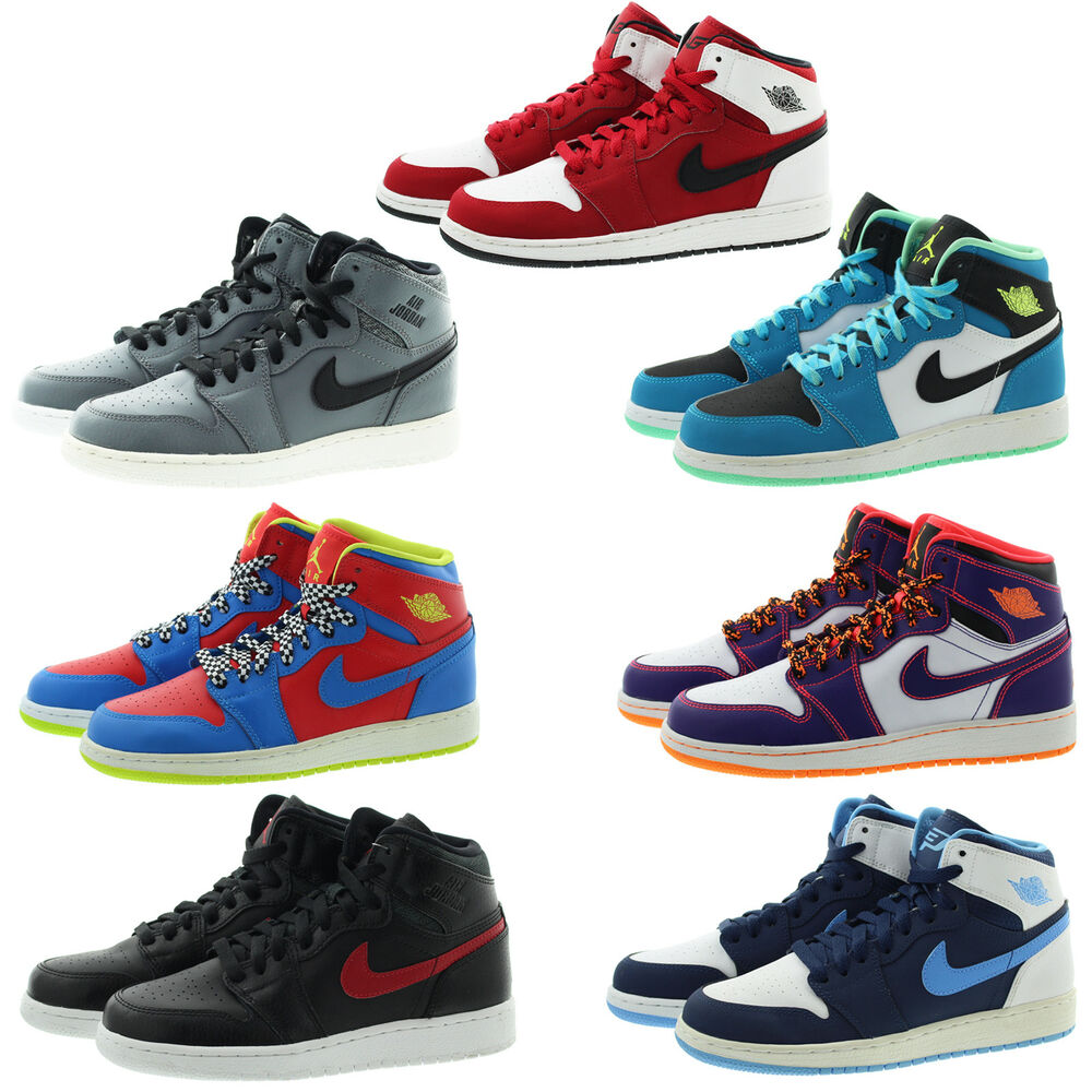 best service 1e9a8 32993 Details about Nike 705300 Kids Youth Boys Girls Air 1 Retro High Top Basketball  Shoes Sneakers