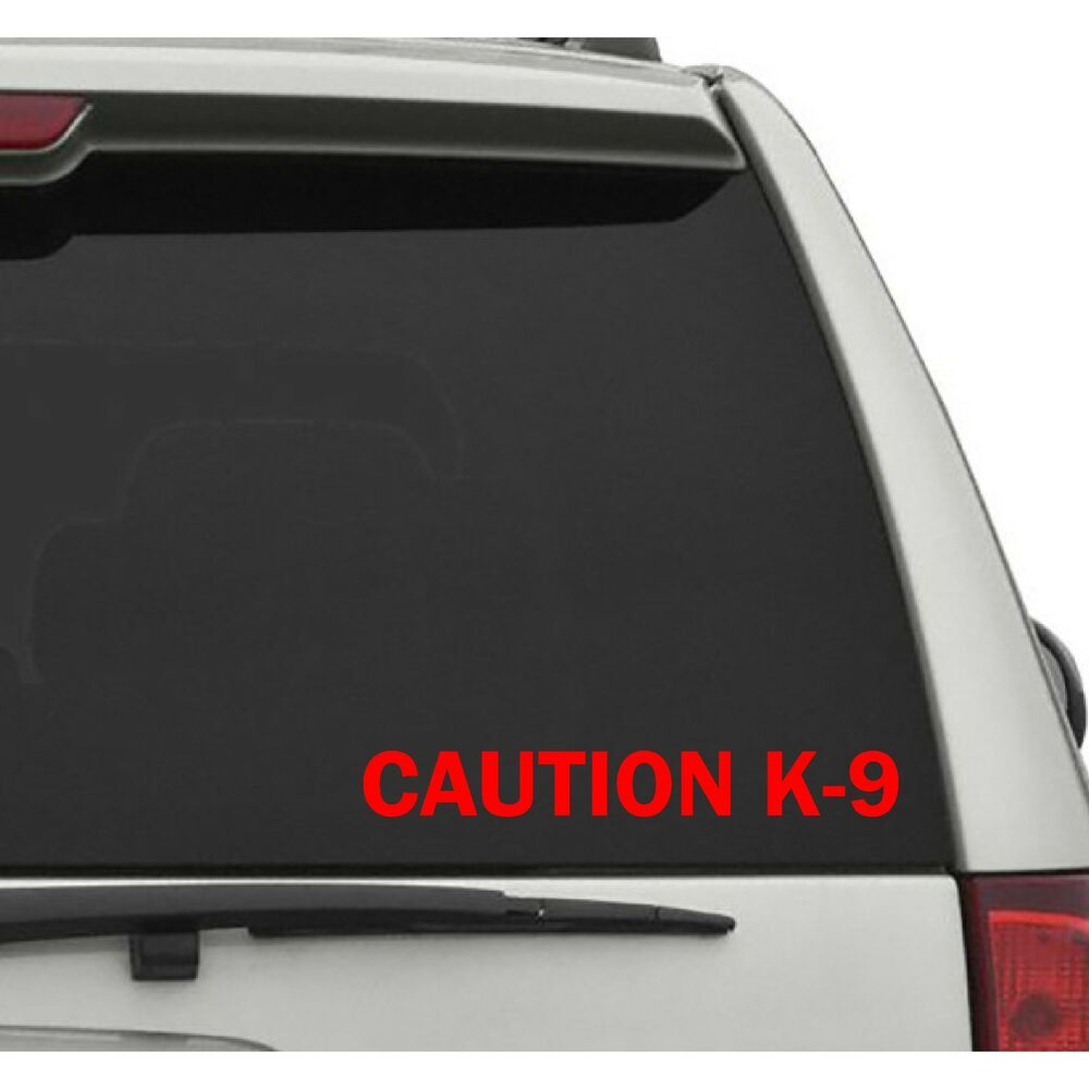 Details about caution k 9 decal sticker police decal dog sticker vehicle decals dog training
