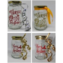 Merry Christmas Jar Sticker, Have yourself a Merry Christmas - Make your own Jar