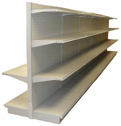 gondola shelving lozier complete sections retail store aisle wall pick size ebay. Black Bedroom Furniture Sets. Home Design Ideas