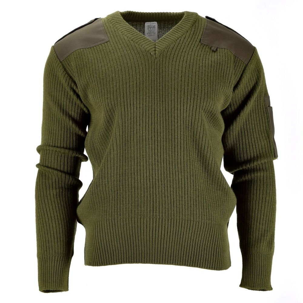 Sweaters Austrian Army Olive Wool Blend Sweater Jumper Pullover Sweatshirt Military Khaki Uniforms & Bdus