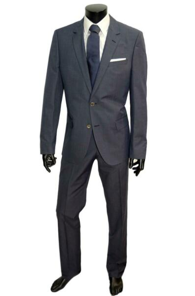 HUGO BOSS ABITO UOMO HUTSON1/GANDER SLIM FIT COTONE E SETA STRETCH ART. 50287797