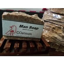 Hand Crafted Natural Man Soap (exfoliating soap)