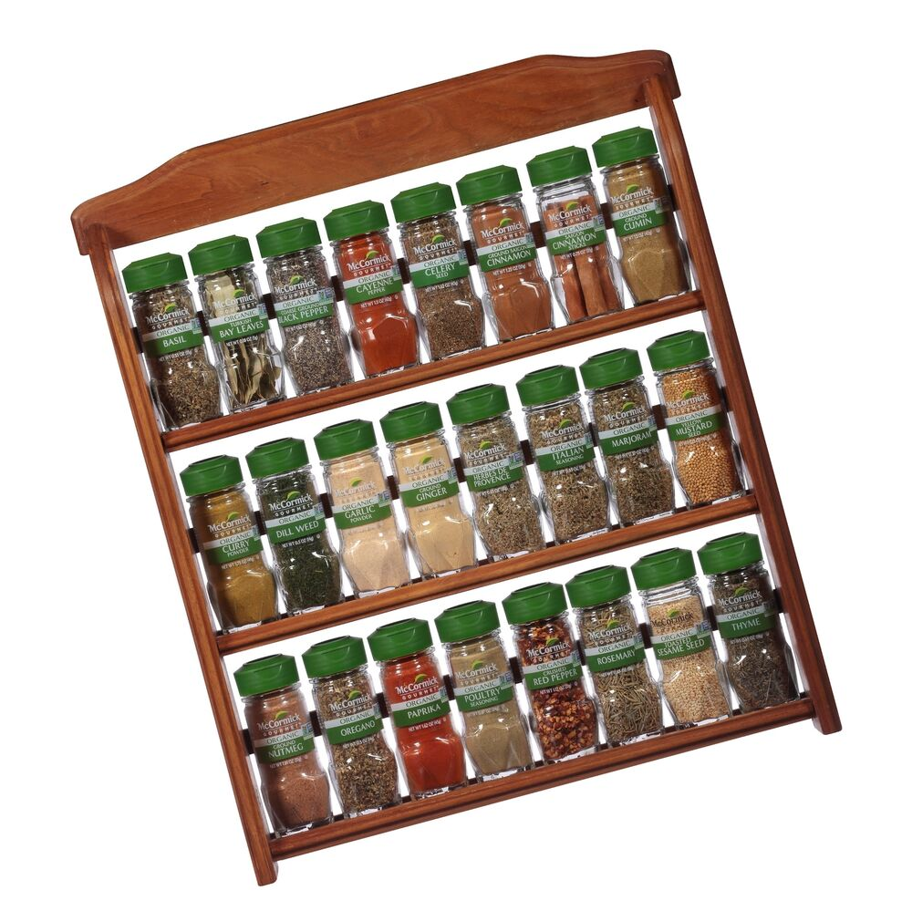 Mccormick Spice Rack: McCormick Gourmet Organic Wood Spice Rack (with Spices