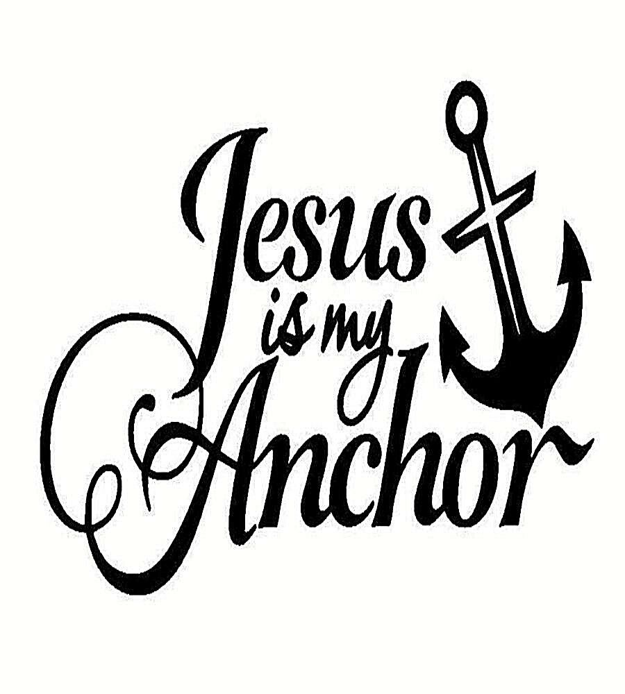 Details about jesus is my anchor vinyl design wall car truck vehicle decal sticker christian