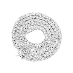 Kyпить 4mm 1 Row Real 925 Sterling Silver Bling Tennis Chain Necklace ANTI TARNISH на еВаy.соm