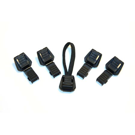 img-Zipper End Caps - Black, Cord End, Bugout, Rescue, Zip, Toggle,
