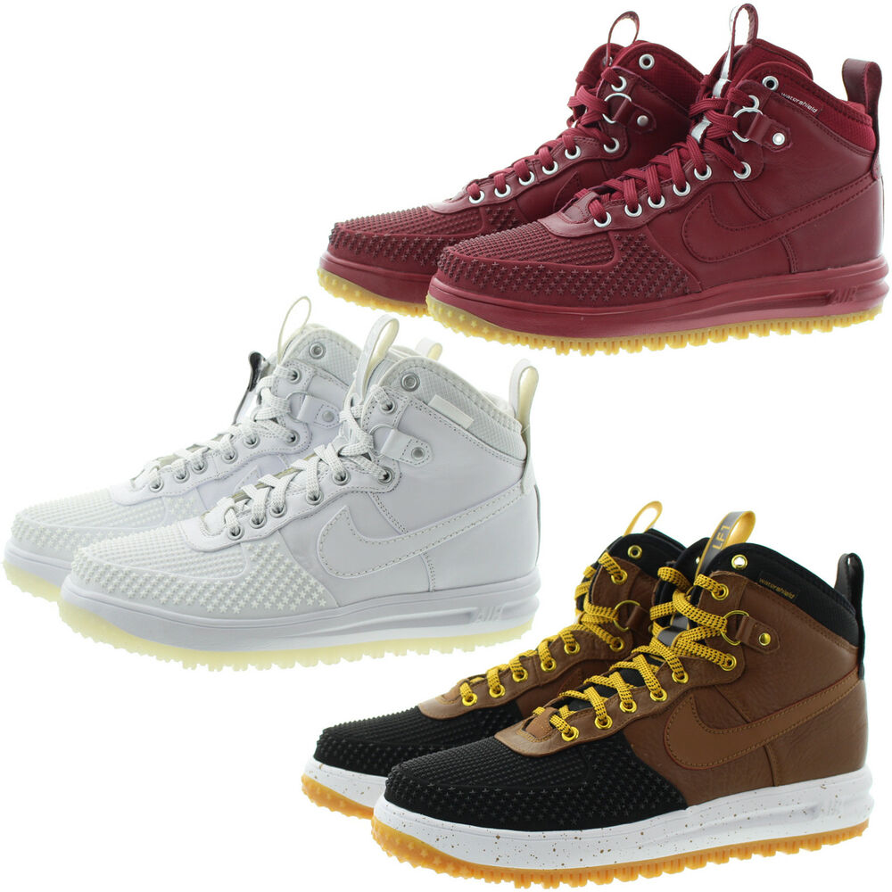 2189b3479e529 Nike 805899 Mens Lunar Force 1 High Top Water Shield Duckboot Shoe Boots