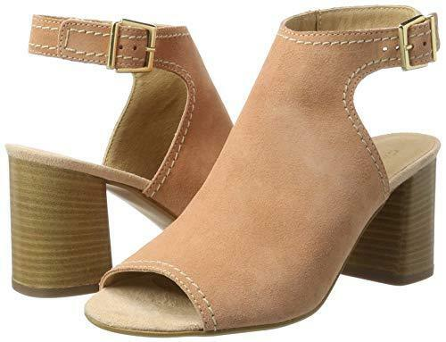 c0d6fdb888f Details about RRP £110 CARVELA KOAL SIZE 2 35 PEACH REAL SUEDE HIGH BLOCK  HEEL SHOES SANDALS