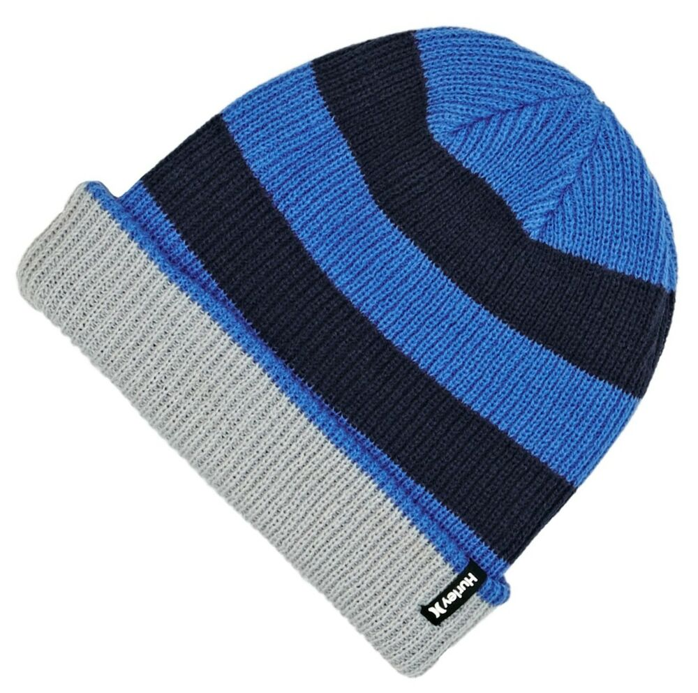 f97fdc1a9 GIFTS FOR MEN Hurley Mens 9A6039 Reversible Slouch Beanie Hat Midnight Navy  Blue 633716193355 | eBay