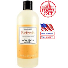 🔥Trader Joe's REFRESH Citrus Body Wash Vitamin C B5 Chamomile 16 OZ 473 mL