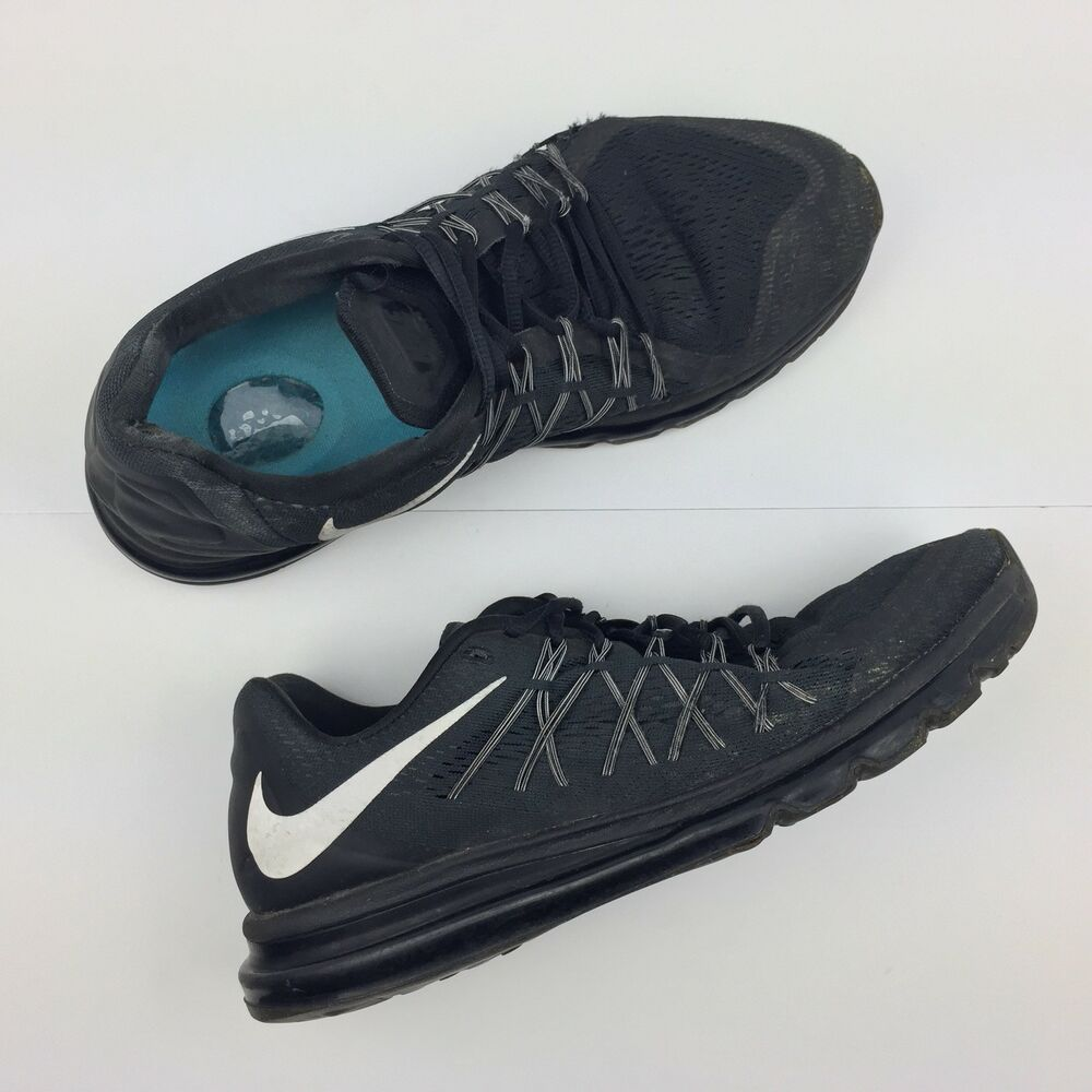 32b1fa2dbed2 Details about Nike Air Max 2015 Running Sneakers Triple Black Shoes  698902-001 Men s Size 11