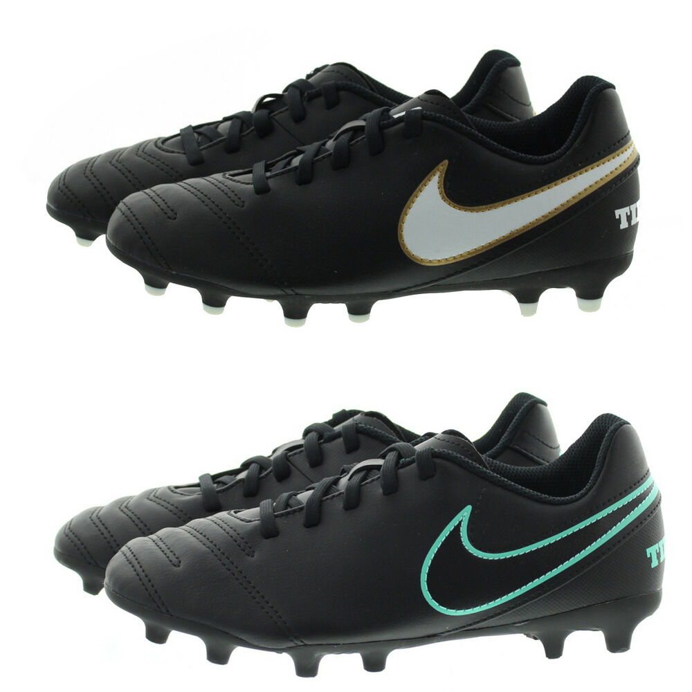 c2fce9486 Details about Nike 819195 Kids Youth Boys Girls Jr Tiempo Rio III Firm  Ground Soccer Cleats
