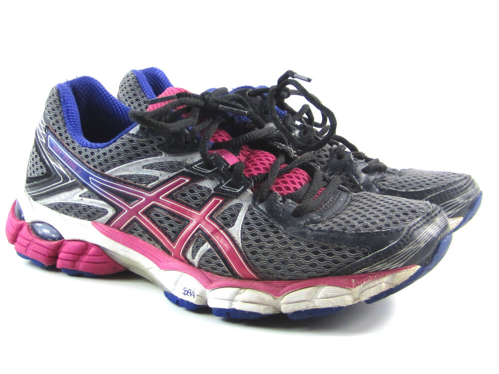 63c22bbb2e5 Details about Asics Gel Flux 2 Running Shoes Sneakers Women s Gry pnk prple  Sz 7.5 M T568N