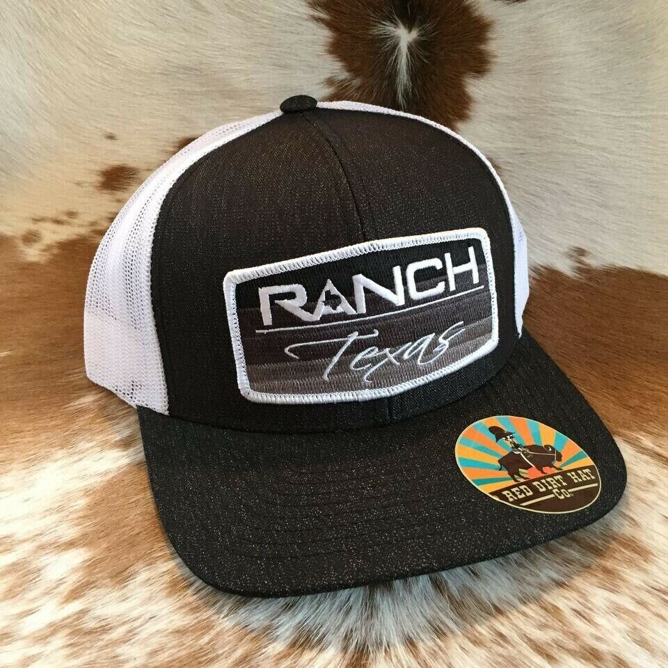 ef6247d6f8220 Details about Red Dirt Hat Co. Ranch Texas Heather Black White Trucker  Snapback Cap RDHC39