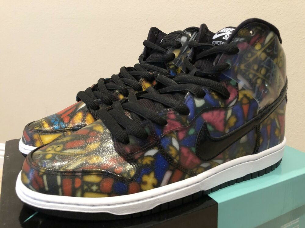 finest selection 4fa64 5e54e Details about Nike SB Dunk High X Concepts Stained Glass Size 9.5 Pigeon  Jordan Boost Pink Box