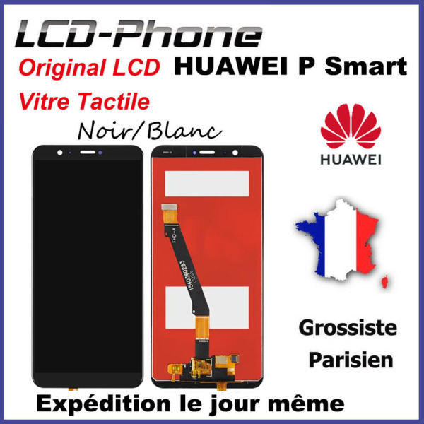 Ecran Huawei P Smart (FIG-LX1) LCD +Vitre Tactile + Châssis