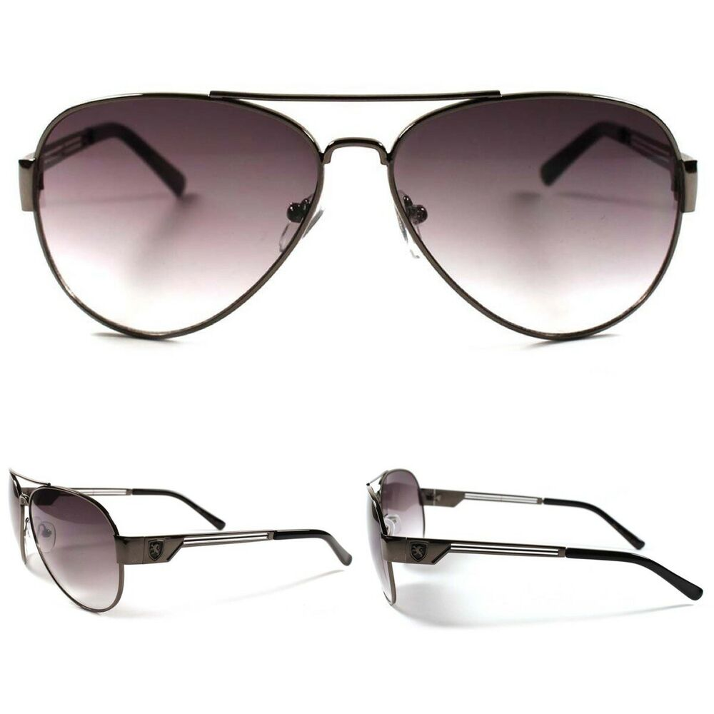f9ac8a9cf Details about Classic Aviator Style Gunmetal Frame Mens Womens Modern  Sporty Trendy Sunglasses
