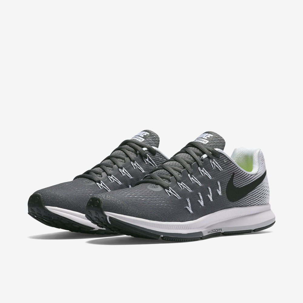 new product 8e38d 53b61 Details about Nike Air Zoom Pegasus 33 Womens Running Shoes Sz 5-10 Grey  Black 831356 002