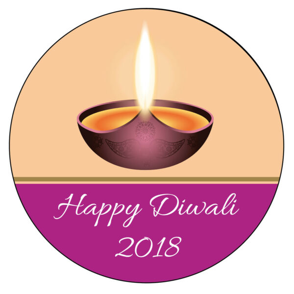 PERSONALISED Happy DIWALI Candle Labels Party Birthday Stickers Glossy Mat 1015