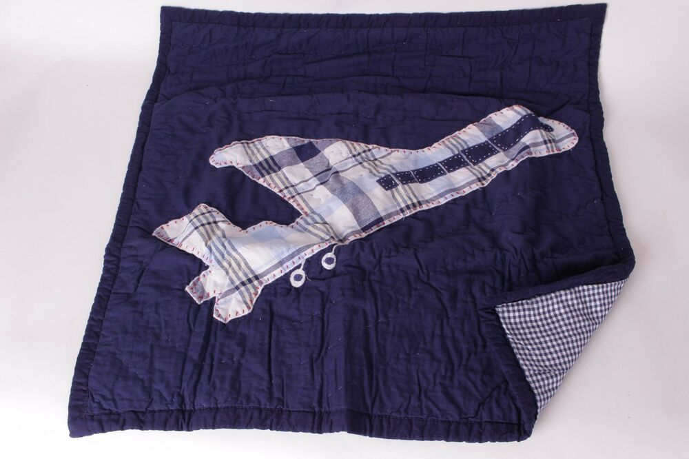 Nwt Pottery Barn Kids Brody Quilted Euro Sham Blue