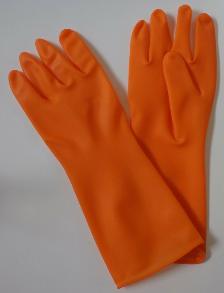 Details about North Safety AK Clean Room Latex Gloves 1 Pair Orange Size  Adult Large