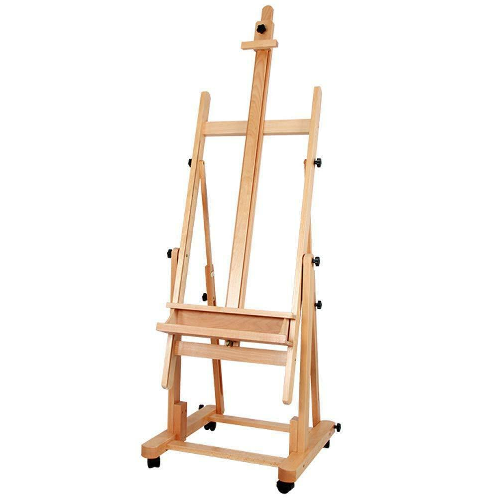 MEEDEN Sturdy H-Frame Beech Wood Artists Painting Studio