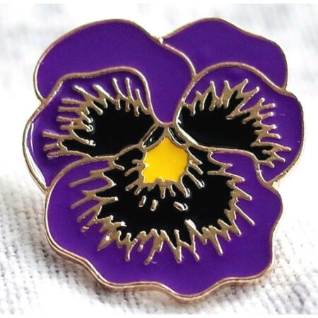 img-REMEMBERING THE ANIMALS OF WAR New Purple Flower Poppy Day Badge BRAND NEW