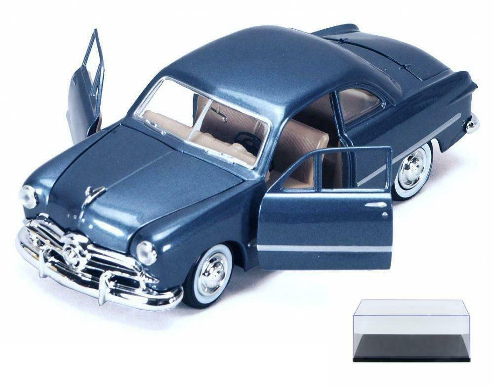 DIECAST CAR & CASE 1949 FORD COUPE CLASSIC OLDIES CAR