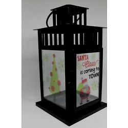 Santa Claus is coming to town Digital Printed Film for IKEA LANTERN BORRBY SMALL
