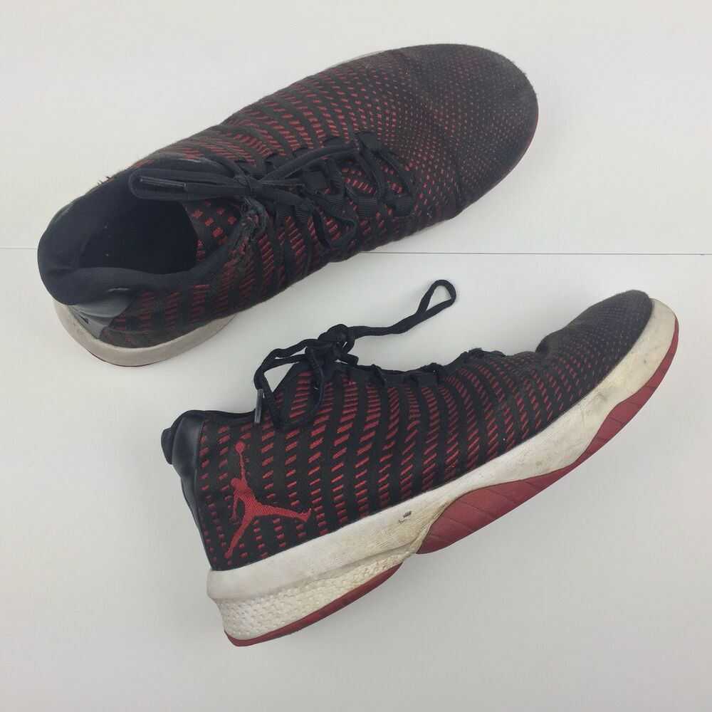new style cf571 9db5e Details about Nike Air Jordan B. Fly Black Gym Red Dark Grey White  881444-002 Men s Size 9.5