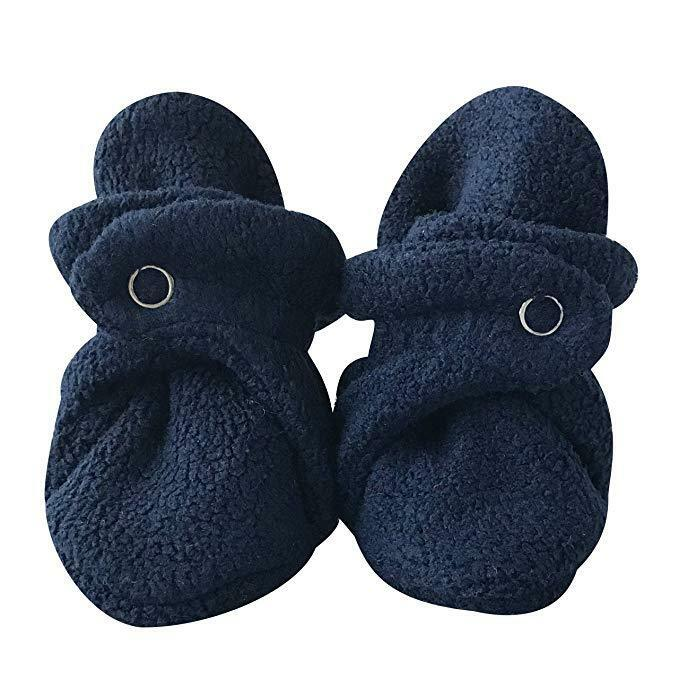 Soft Plush Lilac Fleece Infant Soft Baby Cotton Booties Ships from WA
