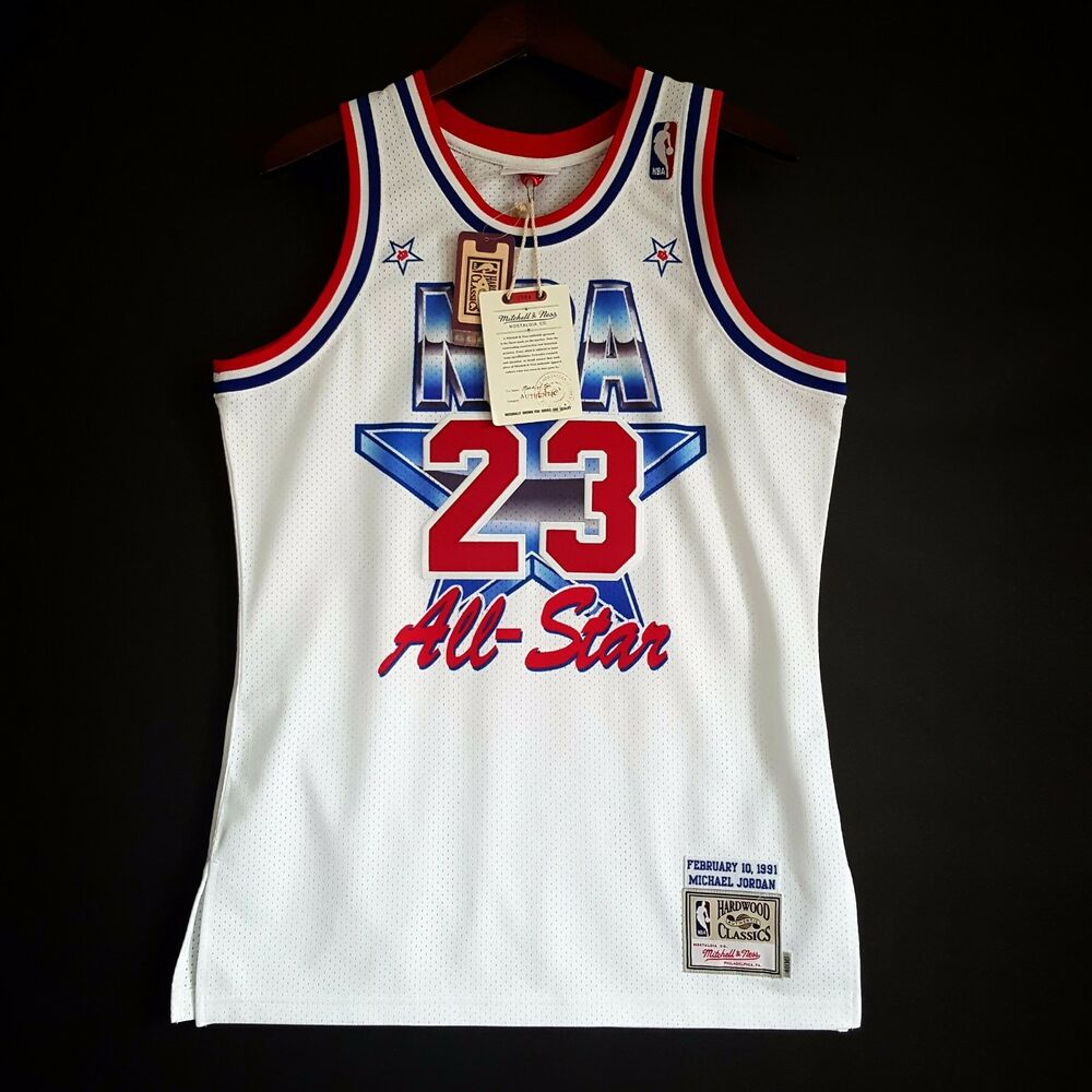 81b907c1776 Details about 100% Authentic Michael Jordan Mitchell Ness 91 NBA All Star Jersey  Size M 40