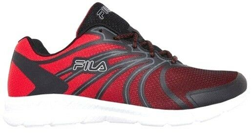 bd6956a0f02e Details about Fila Memory Folio 2 Men s Running Shoes Sneakers Black Fire  Red Metallic Silver