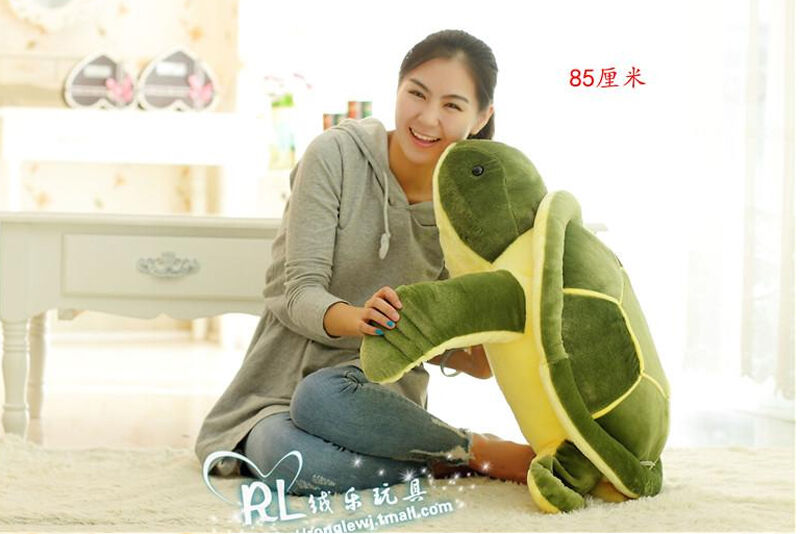 New 85cm Giant Large Sea Turtle Stuffed Animals Soft Plush Doll Big